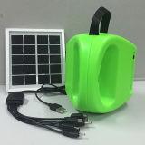 Mão colorida do ABS que racha a lâmpada de acampamento solar com carregador do USB