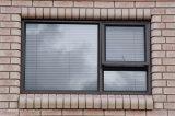 Ventana de desplazamiento de aluminio ocultada de los rodillos para las casas