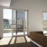 Blanco/negro/gris/puerta de vidrio de desplazamiento de aluminio del marco de Brown