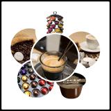 Relleno de la cápsula del café de Lavazza y máquina del lacre