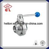 Válvula de esfera apertada do aço inoxidável 3 maneira sanitária