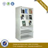 Puder-Beschichtung-Stahlmetallzahnstangen-Aktenschrank (Bücherschrank, Bücherregal) (HX-MG80)