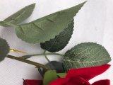 가정 결혼식 훈장을%s 녹색 잎을%s 가진 가짜 실크 장미 인공 꽃