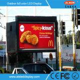 Intense écran extérieur polychrome du luminosité P10 DEL pour la publicité
