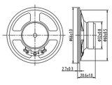 Haut-parleur par radio de téléphone d'intercom du haut-parleur 16ohm 0.5W de Dxyd66W-32z-16A 66mm