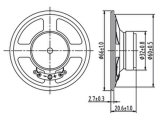 Dxyd66W-32z-16A 66mm 확성기 16ohm 0.5W 라디오 내부통신기 전화 스피커