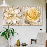 Het grote Olieverfschilderij van de Bloemen van de Grootte met Frame voor Decor