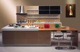 De moderne Keukenkast van de Stijl van de Keukenkast Europese Hoge Glanzende