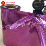 Film olographe métallisé par laminage thermique des configurations BOPP pour l'emballage de cadeau