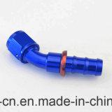 Spinta An10 sull'estremità del tubo flessibile un adattatore adatto di alluminio da 45 gradi