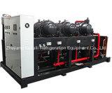 Unidade de compressor de temperatura média de refrigeração do ar paralelo para sala fria