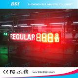 Rectángulo de iluminación impermeable al aire libre de la muestra del precio de la gasolina del LED