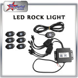 Auto Parte 9-32V 9W * 4 900lm * 4 LED Rock Light com Bluetooth RGB Controller-4PC LED Rock Light para veículos sob veículo, caminhão. Luz interior do barco