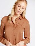 Het duidelijke Slanke Geschikte Gecontroleerde Overhemd van de Chiffon