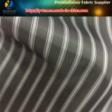 Черной/белой покрашенная пряжей ткань нашивки для одежды, полиэфира сплетенное тканье (S27.86)