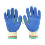 니트릴 거품은 안전 노동 세륨 방어적인 면에 의하여 뜨개질을 한 장갑을 입혔다