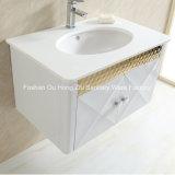 Vanité blanche d'or de salle de bains d'acier inoxydable avec l'étagère pour le pays de Moyen-Orient