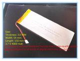 Trasporto libero di migliore marca della batteria 3.7 batterie del polimero del litio di V, 0354150, 3054150, batteria incorporata del ridurre in pani da 4000 mAh METÀ DI
