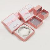Caixa de jóia de empacotamento do presente lustroso do papel da fantasia da laminação (J82-E)
