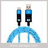 Cobre puro de dados USB trançada cabo de alimentação do carregador para iPhone