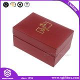 Красная коробка подарка ювелирных изделий кольца ожерелья Слегка ударять-Верхней части картона