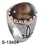 925의 은 반지 형식 보석 원석 남자 반지