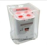 O partido portátil do laser do disco da bateria UV profissional da iluminação 6pcsx18W RGBWA do estágio ilumina a iluminação de controle remoto do diodo emissor de luz do rádio