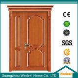 Personnaliser la porte en bois solide extérieure de pin de forces de défense principale d'intérieur