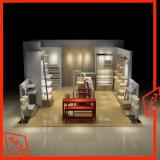 Unidad de madera del estante de la pared de la visualización de la ropa para el departamento