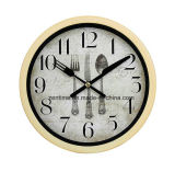 Cuisinier dans l'horloge de mur promotionnelle simple de cuisine