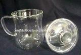 Taza de té de cristal de la pared doble del Borosilicate con la tapa