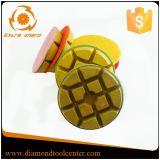 Tampones para pulir concretos de los tampones para pulir de la resina del diamante