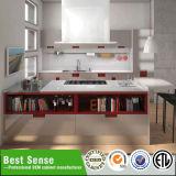 Gabinete de cozinha elevado popular da melamina do lustro 2018