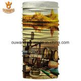 卸し売り工場試供品100%年のポリエステル管のバンダナ