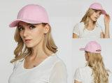 Kundenspezifische Sport-Baseball-Form-Frauen-Normallack-Baumwollschutzkappe für Mädchen