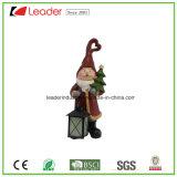 Natal decorativo Polyresin Santa estátua com uma árvore para decoração de casa