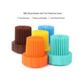 Бутылка 100% щетки силикона решетки Brush/BBQ силикона Non-Stick силикона качества еды зеленого цвета силикона теплостойкfNs