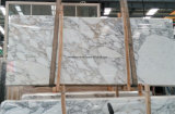 Lastra bianca del marmo della neve dell'Italia Statuario per la stanza da bagno e le parti superiori