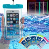 Teléfono de Fluorescencia Universal el caso de la bolsa de polvo/agua de 5,5 pulgadas