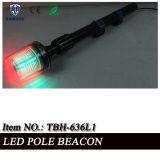 Indicatore luminoso infiammante rosso e verde della coda del falò del LED Palo per il motociclo della polizia (TBH-636L1)
