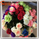 Fabrik-direkte künstliche Hochzeits-Dekoration-Rosen-Blume