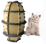 Nuovo tipo giocattolo dell'animale domestico della casella di carta del gatto di gioco del calcio del giocattolo della scheda della graffiatura di gatto di gioco del calcio del documento ondulato