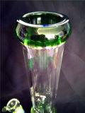 Grosse Glaspfeife AA039 mit blauem Honig-Kamm