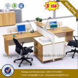 멜라민 사무실 책상 4 사람 사무실 분할 출구 워크 스테이션 (HX-PT5005)