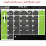 Calendrier hebdomadaire / mensuel / annuel Verre magnétique Tableau blanc avec En71 / 72/73