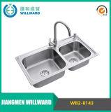 Modelo Wb2-8143 Stainless Steel 304 Topmount Kitchenware