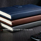 Cahier de tourillon de livre À couverture dure d'agenda de cuir véritable