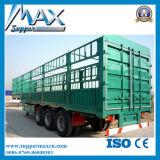 2/3 acoplado de la cerca/de la estaca de los árboles semi para el cargo a granel del transporte/el animal/el grano