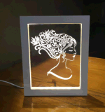 Cadre photo 3D avec USB Night Light
