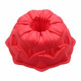 Rouge de moulage de gâteau de Gugelhupf de silicones de FDA d'outils de traitement au four d'usine de Bakeware de silicones